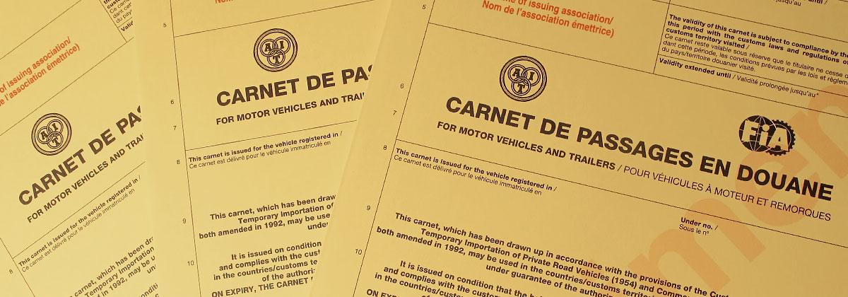 Carnet de Passage en Douanes (CPD)
